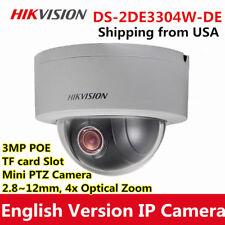 Hikvision 3MP Mini PTZ Dome IP Camera DS-2DE3304W-DE 4X Optical Zoom POE outdoor