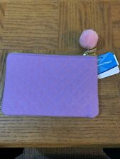 School Pencil Pouch Quilted Purple