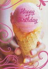 Hallmark Mahogany Ice Cream Cone Happy Birthday Greeting Card