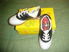 TODDLER GIRLS sz 1 1/2 SADDLE OXFORDS 50's SHOES 1.5 NWT Jazzy BRAND NEW w BOX
