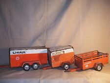 Vintage Nylint U-Haul Enclosed Moving Trailer for Pick Up Truck Pressed Steel