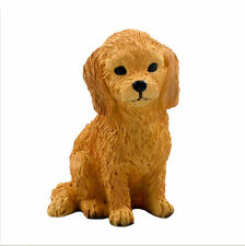 Goldendoodle Mini Resin Hand Painted Dog Figurine Statue
