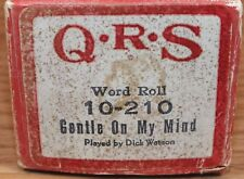 Q.R.S. Word Roll (10-210) Gentle On My Mind Played by Dick Watson *READ*