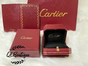 Cartier Authentic Ring Box W/Outer Box+Sleeve+Gift Bag