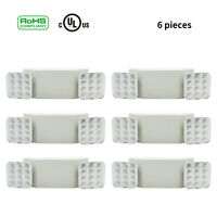 LED Emergency Exit Light Dual Head Hardwired w/ Battery Back-up 1/2/4/6/12 Packs