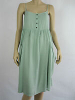 Crossroads Ladies Sleeveless Slouch Pocket Mid Dress sizes 12 16 18 22 Sage