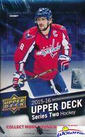 2015/16 Upper Deck Series 2 Hockey Factory Sealed HOBBY Box-6 Young Guns+MEM!