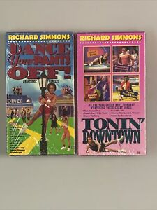 VTG RICHARD SIMMONS Dance Your Pants Off & Tonin Downtown FACTORY SEALED - NEW