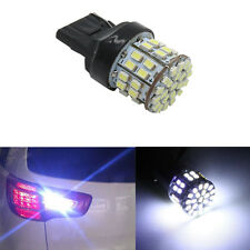 T20 W21W 7443 7440 LED 50 SMD 1206 Tail Stop Brake Light Bulb Lamp White 5500K.