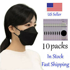 10 Black Masks Mouth Nose Coverings Black Korean Face Mask Made In Korea Black