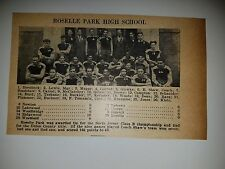 Roselle Park & Salem High School New Jersey  1928 Football Team Picture