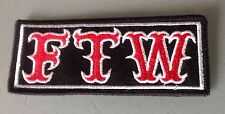 FTW! F@@k The World  Patch Rocker Outlaw Biker 1% MCC Motorcycle