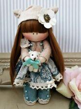 Rag doll handmade in the UK Tilda doll Ooak doll Cloth doll DANIELLE 6 inch tall