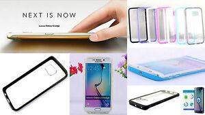 Hard Case Cover Schale Samsung Galaxy S6 Edge Tasche Bumper Schutz Hülle + Folie