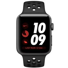 Apple Watch Series 3 42mm Gray Aluminum Case Black Nike Sport Band MQKY2 NEW