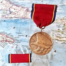 1939 US NAVY RESERVE FAITHFUL SERVICE MEDAL BENT SLOT BROOCH METAL ARTS CONTRACT