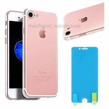 """Ultra Thin Crystal Clear Case Cover for Apple iPhone 7 4.7"""" Dust Plug Protector"""
