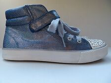 Children's Place Size 4 Sparkly Blue With Bedazzling Mid top Shoes