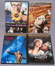 DVD LOT - Quills, Shine, Life & Death of Peter Sellers, Harvie Krumpet (4 Discs)