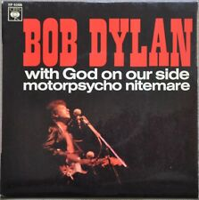 "VERY RARE BOB DYLAN FRANCE 7"" EP - WITH GOD ON OUR SIDE MOTORPSYCHO NITEMARE"
