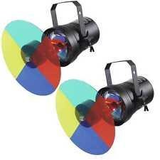 2 x Farbwechsler-Set PAR-36 mit Farbrad / Farbscheibe, Leuchtmittel Pinspot NEU