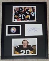 ROCKY BLEIER AUTHENTIC Signed Autographed STEELERS FRAMED 11X14 PHOTO JSA PSA