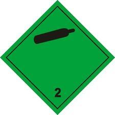 4St. Gefahrgut -Aufkleber 2,5cm x 2,5cm für Tauchflaschen Gefahrgutklasse 2