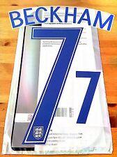 EURO 2016 England LEGEND Home Shirt BECKHAM#7 SportingiD PS-Pro Name Number Set