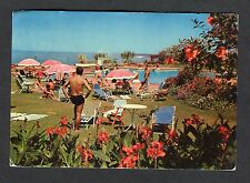 Posted 1968 View of People by the Pool, Hotel Polona, Maputo, Mozambique