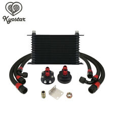Universal Aluminum 10AN 13-Row Black Trust Type Oil Cooler Relocation Kit