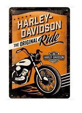 HARLEY-DAVIDSON - TIN SIGN - VINTAGE RETRO - GARAGE MAN CAVE - IDEAL GIFT