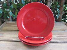 "Pier 1~Red~8¼"" Salad Plate~Earthenware~Spain~Pair"