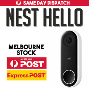 Nest Hello Smart Wi-Fi Video Doorbell Night Vision Two Way Audio AU STOCK
