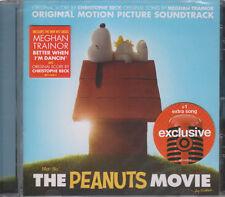 The Peanuts Movie CD Soundtrack 2015 & Seal Slight Crack on Case Hence