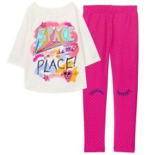 NWT Gymboree COSMIC CLUB Girls Size Small 5-6 Space Tee Top & Leggings 2-PC SET