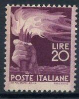 Italia Repubblica 1945 Sass. 561 Nuovo ** 100% Democratica 20 l.