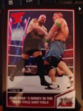 2013 Topps Best of WWE #34 John Cena's Money in the Bank Shot Fails RED Mint