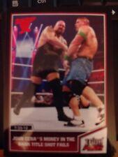 2013 Topps Best of WWE #34 John Cena's Money in the Bank Shot Fails RED Mint