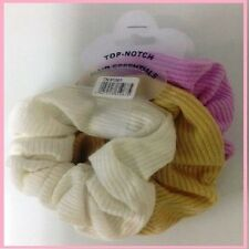 Hair Band Scrunchies  Pack Of 3 Colours Pink,White & Gold  Jan Sale  zz