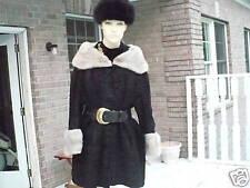 Blk broadtail & Platnium mink fur bolero jacket