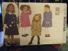 Butterick 3270 Girl's Coat Pattern - Sizes 2/3/4/5