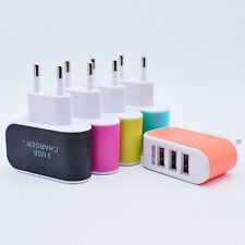 3-Port USB Wall Home Travel Power Charger EU Adapter 3.1A For iPad iPhone iPod