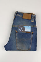 33322 Nudie Jeans Thin Finn Flood Used Bleu Hommes Jean Taille 28/32