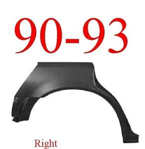 90 93 Honda Accord 4 Door Right Rear Upper Wheel Arch Repair Panel Sedan