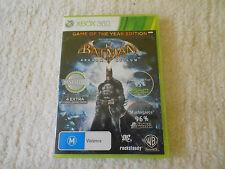 XBOX 360 Batman: Arkham Asylum -- Game of the Year Edition - VGC - FAST POST