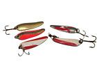 "Lot Of Vintage Fishing Spoons-(1 Les Davis)(1 Nebso)(Flash Bait)(2 Otto's) 2.50"""
