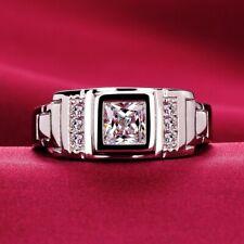 2.28 Ct Princess Diamond Ring For Men's Engagement & Wedding Ring 14k White Gold