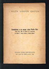 Nilita Vientos Gaston Comentarios A Un Ensayo Sobre Puerto Rico Ateneo 1964