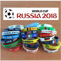 Country Flag Unisex Silicone Bracelet Rubber Sport Fashion Wristband Cuff Gift