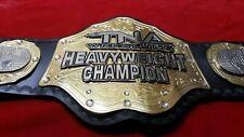 TNA heavyweight Wrestling leather championship belt adult size 2mm